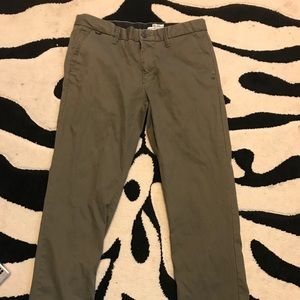 Fox Slim Tapered Olive Men Pant 34/32